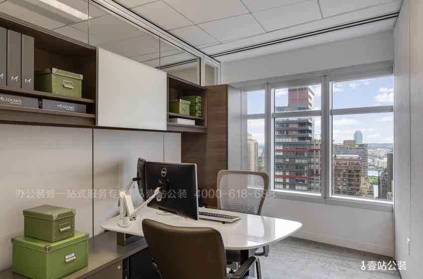 环保的办公室装修实景图